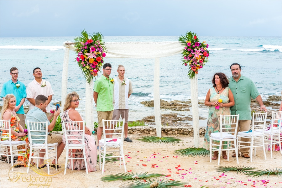 wedding ceremony at villa valhalla akumal