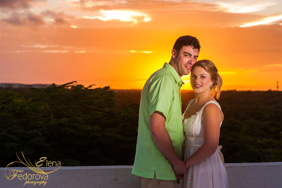 wedding sunset akumal