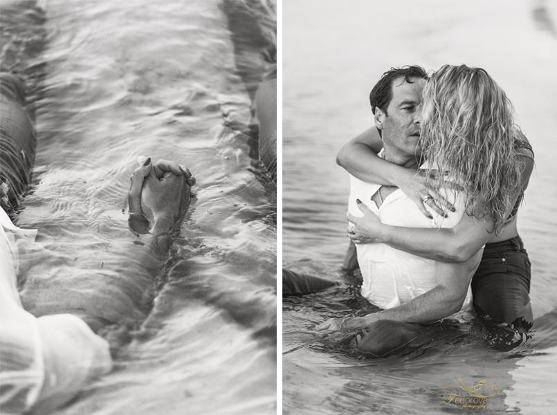 boudoir couple beach photo