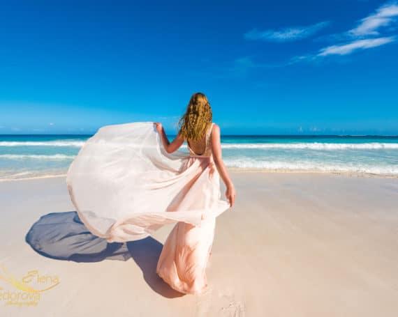 Beach photoshoot in Tulum.