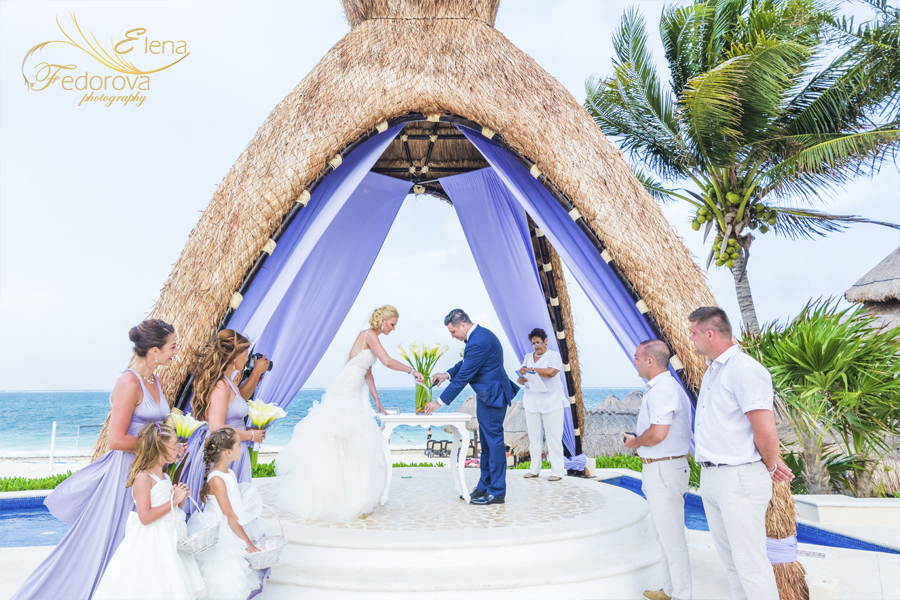 dreams riviera cancun wedding ceremony