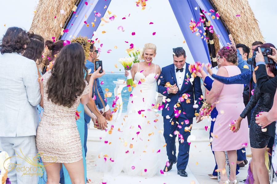 dreams riviera cancun wedding picture