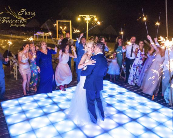 Dreams Riviera Cancun wedding day.
