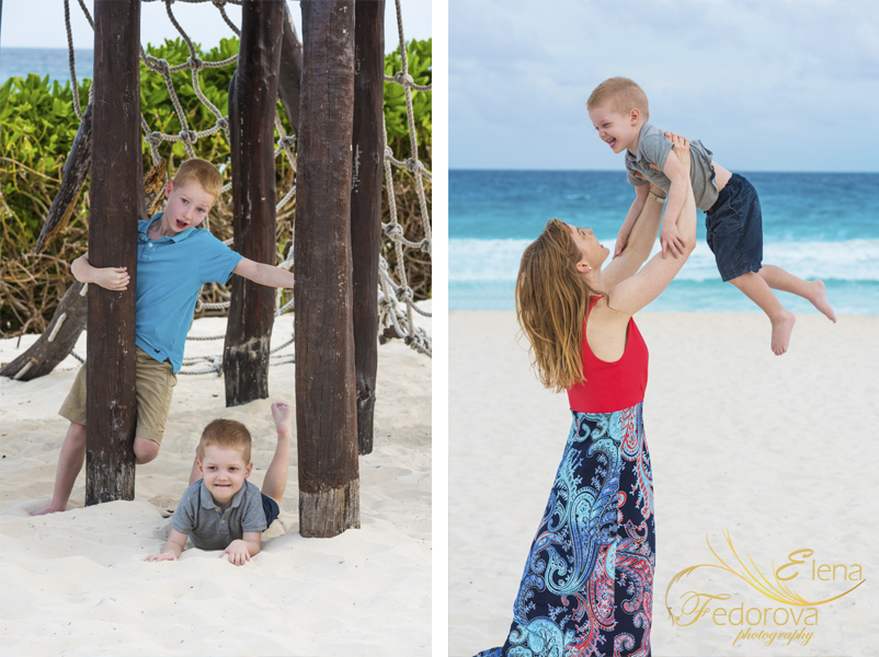 family photography on the beach cancun