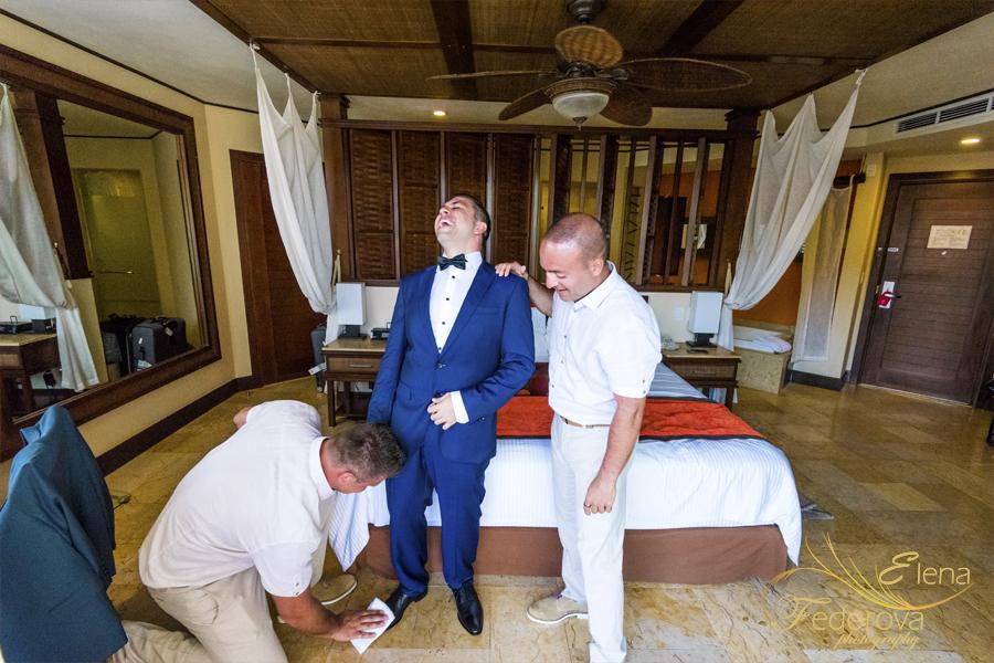 getting ready groom dreams resort cancun