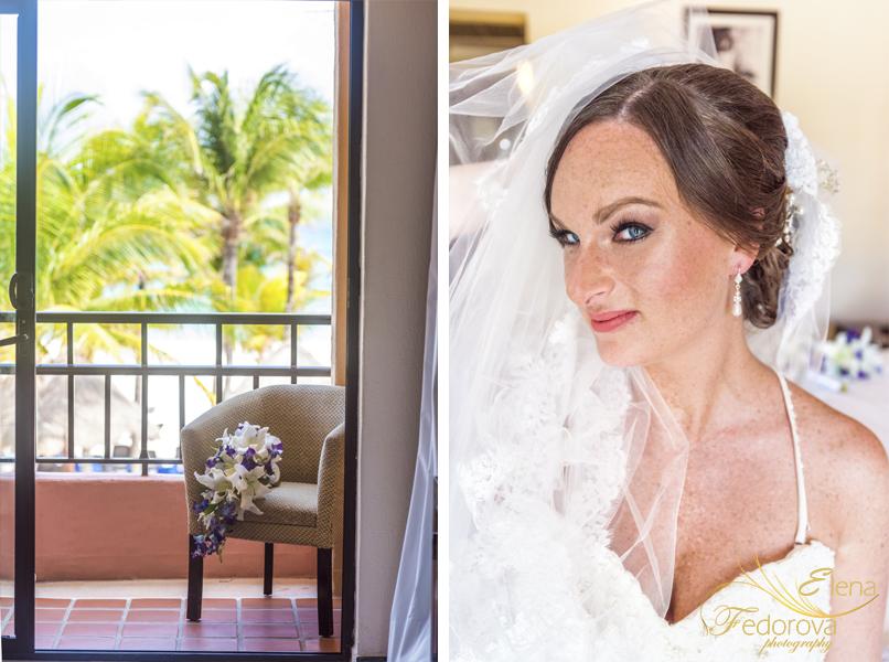 bridal portrait sandos playacar mexico