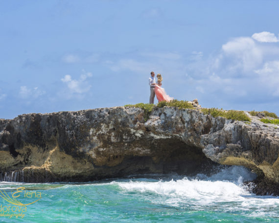 Cozumel honeymoon photo shoot.