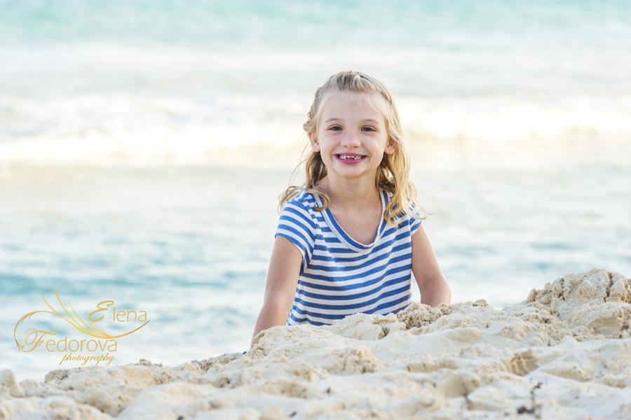 family photos playa del carmen beach