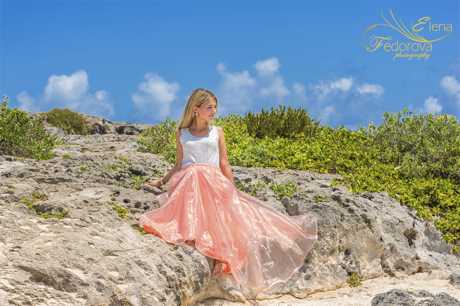 Cozumel honeymoon photo shoot