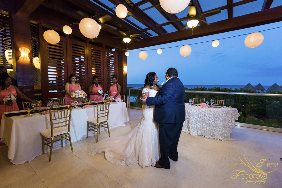 first dance at secrets playa mujeres