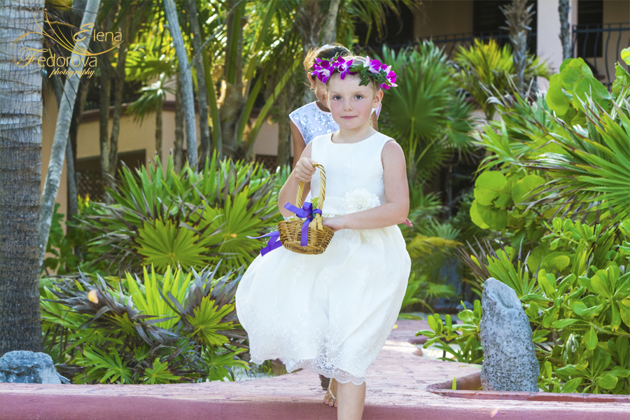 flower girl mayan cermony