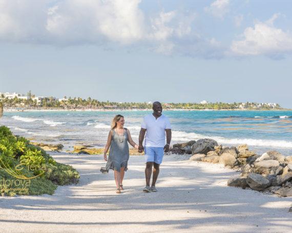 Couple photoshoot Riviera Maya