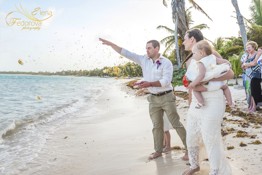 mayan wedding ceremony beach