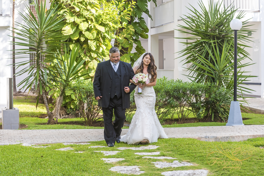 riu yucatan wedding ceremony
