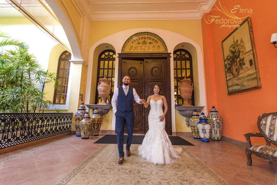 riu yucatan wedding photographs
