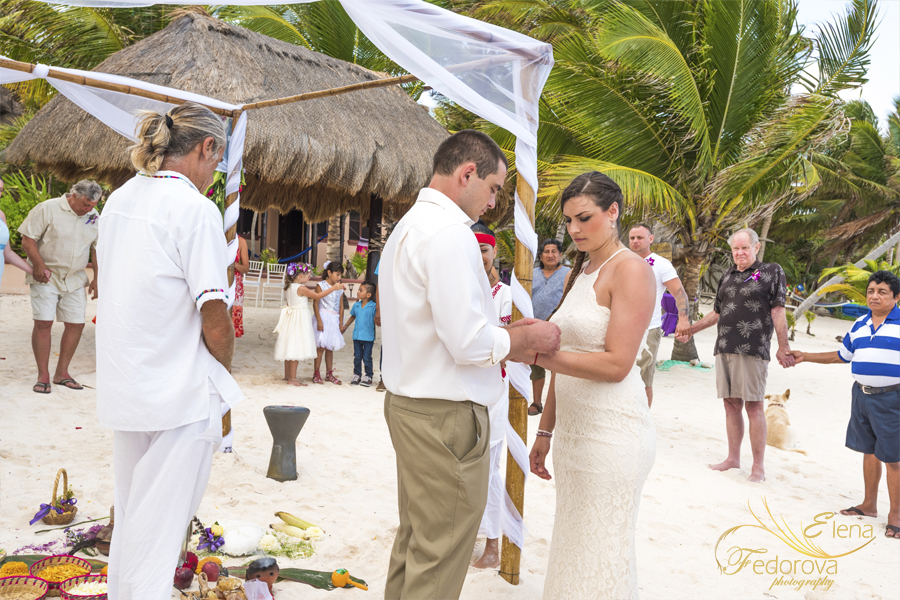 spiritual wedding ceremony beach tulum