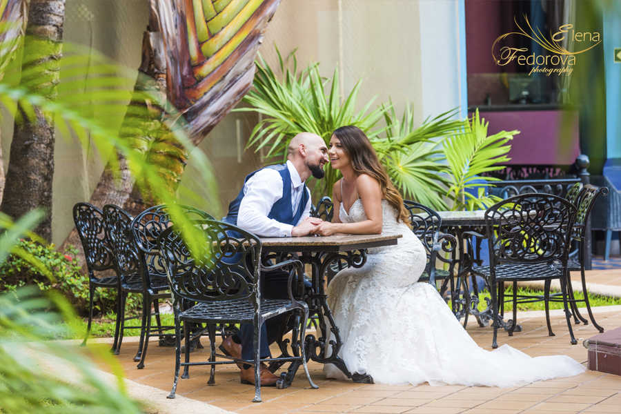 wedding photos riu yucatan resort
