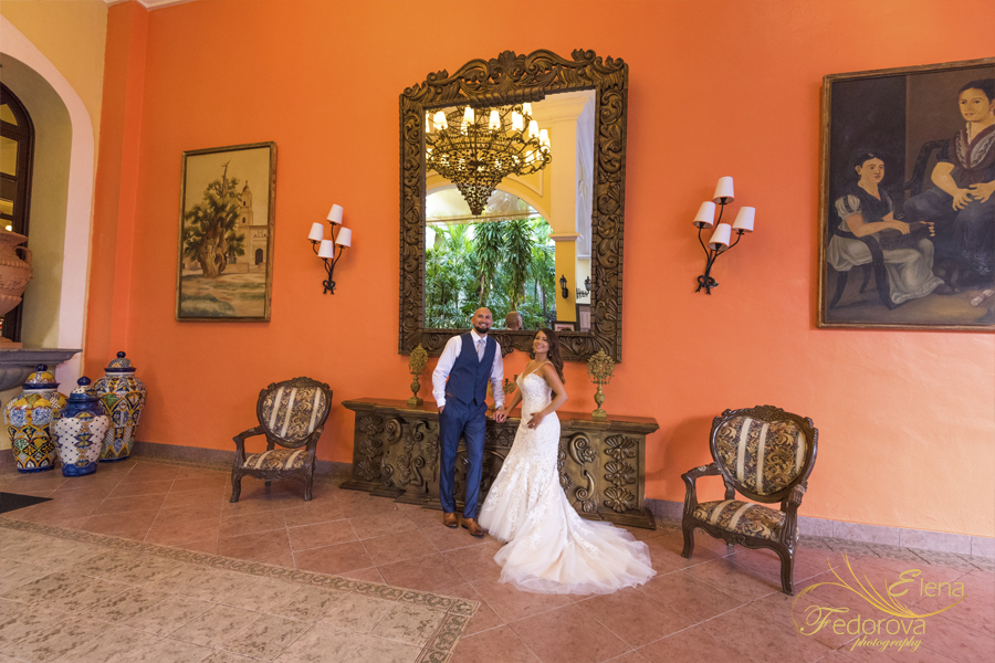 wedding pictures riu yucatan mexico