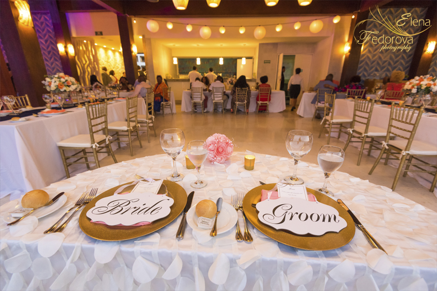 wedding reception secrets playa mujeres