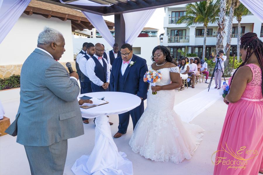 wedding at cancun secrets playa mujeres