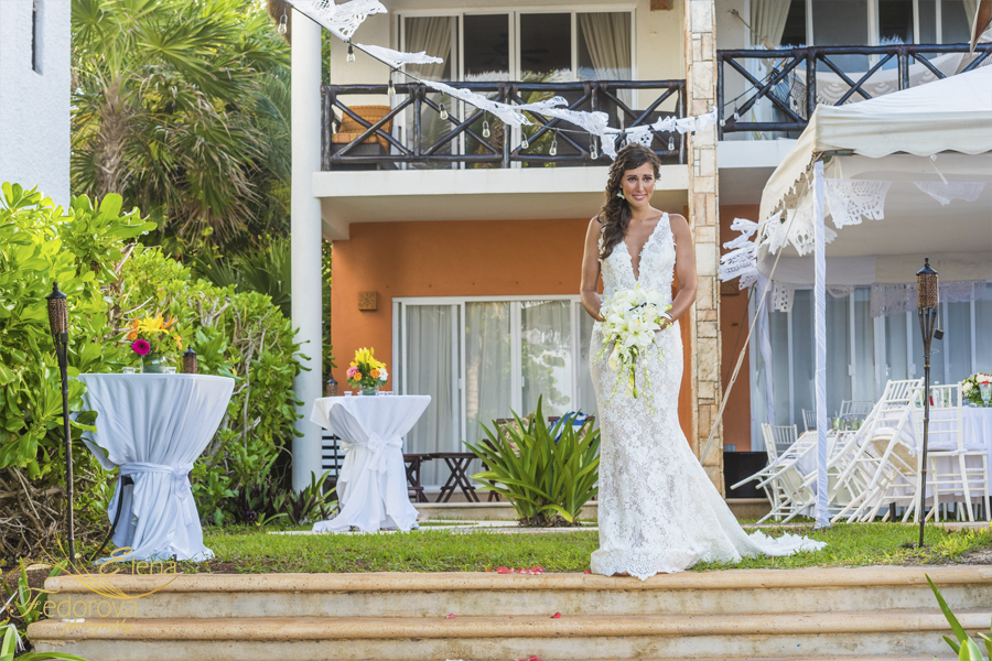 bride aisle in riviera maya
