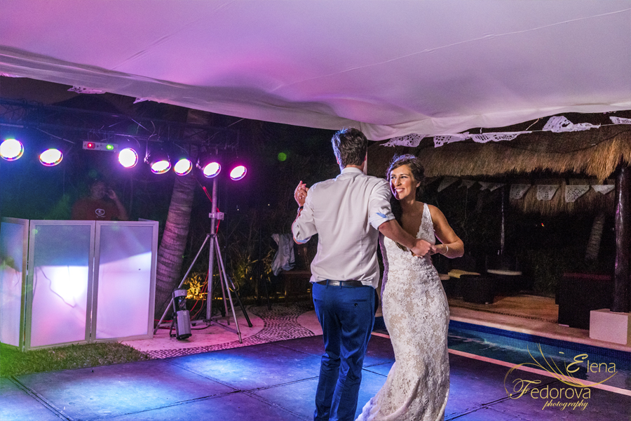 first dance wedding riviera maya