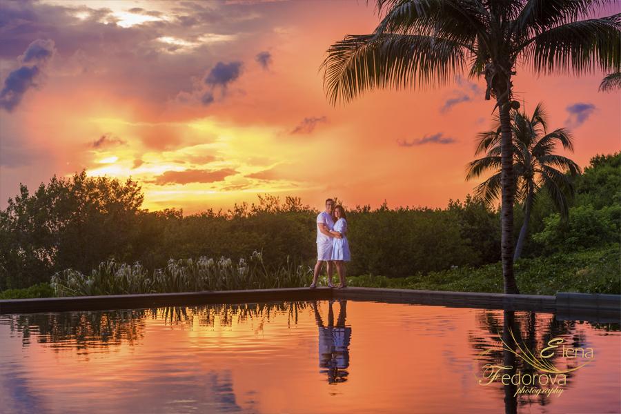 photo shoot sunset nizuc spa cancun