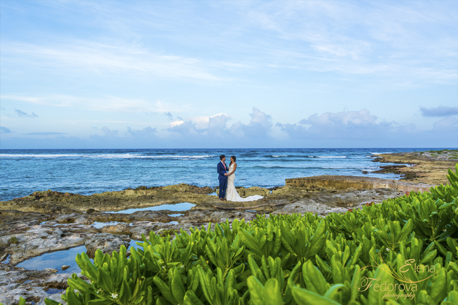 wedding photo session in riviera maya