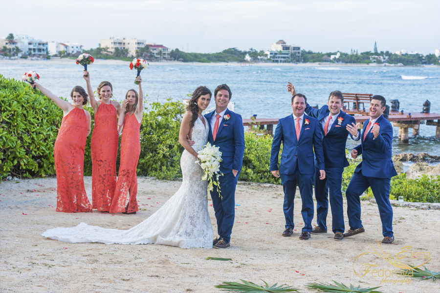 wedding photos in riviera maya
