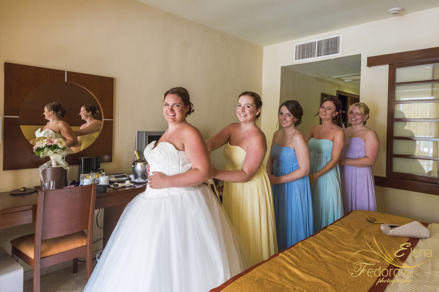 grand riviera princess wedding bridesmaids