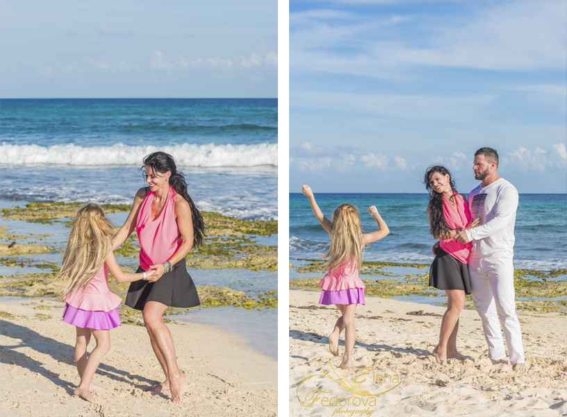 cancun beach family photographers