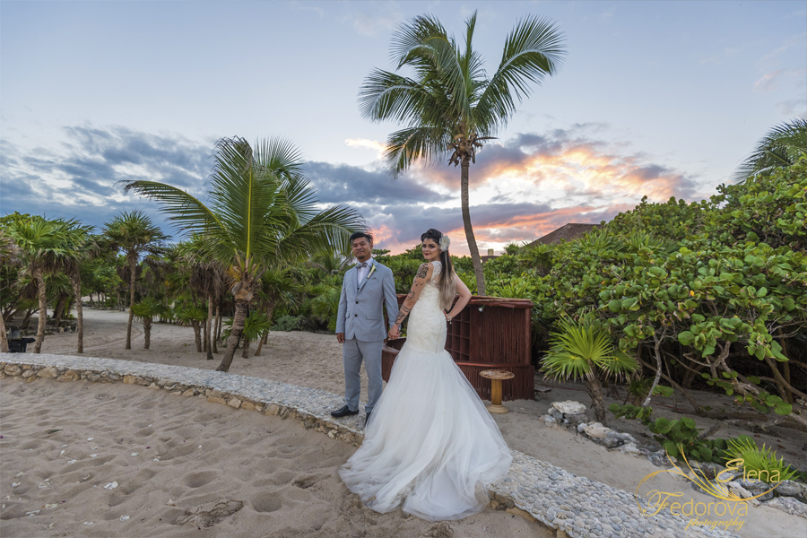 bahia principe mexico weddings sunset