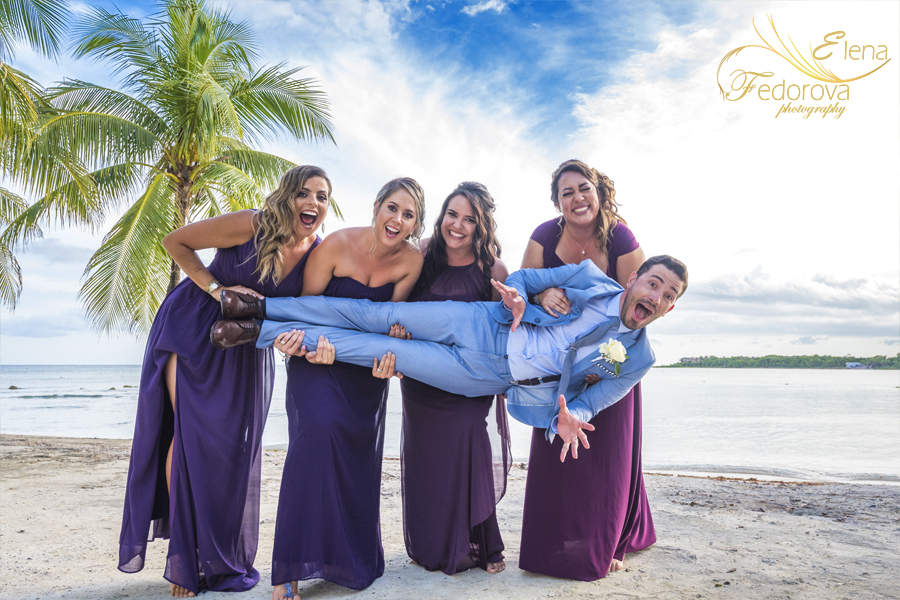 barcelo maya beach wedding fun