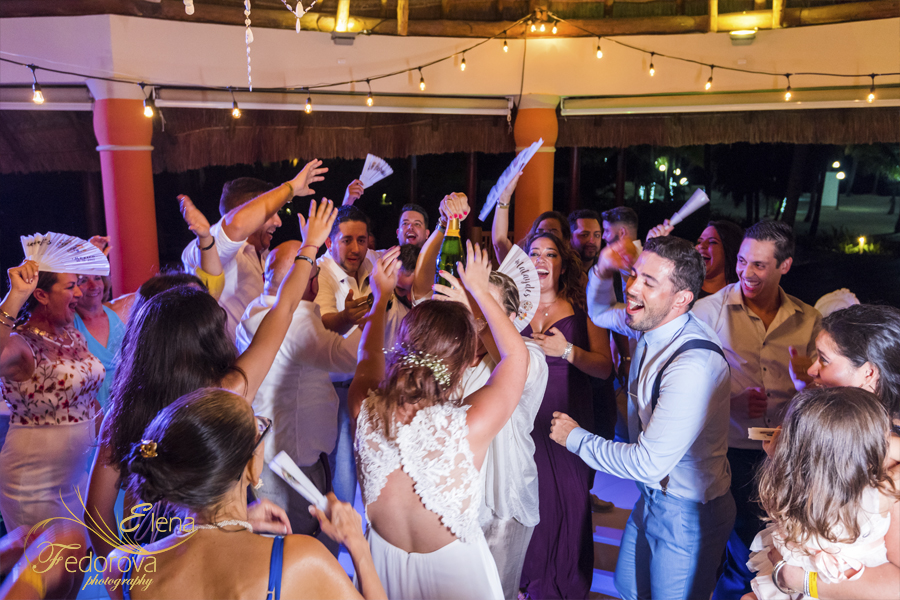 barcelo maya beach wedding mexico party