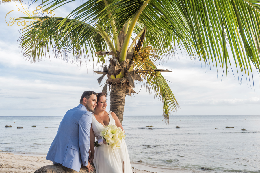 barcelo maya beach wedding mexico photo