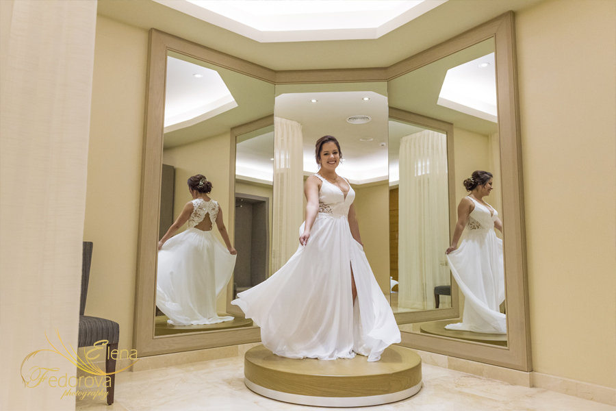 barcelo maya grand wedding bride