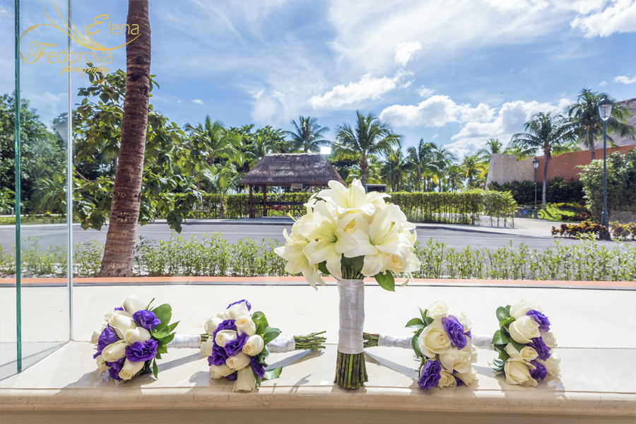 barcelo maya grand wedding flowers