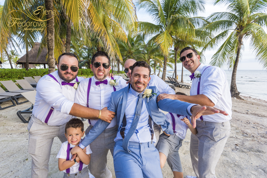barcelo maya grand wedding groom photo
