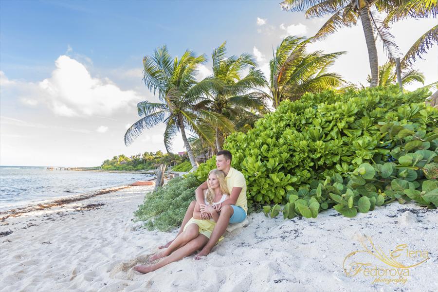 beach in akumal photo shoot