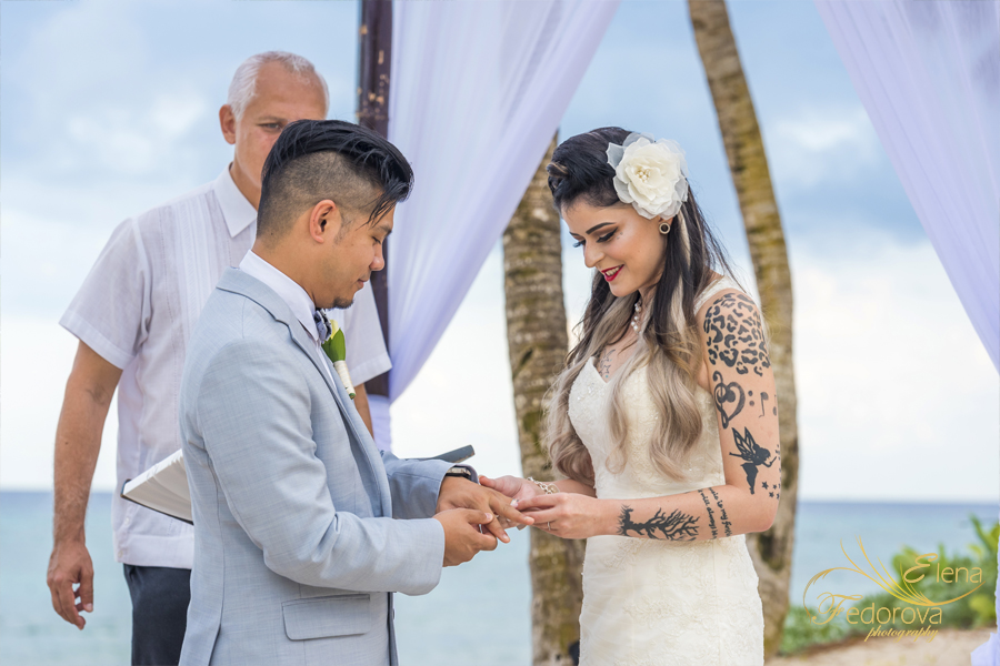 grand bahia mexico wedding ceremony