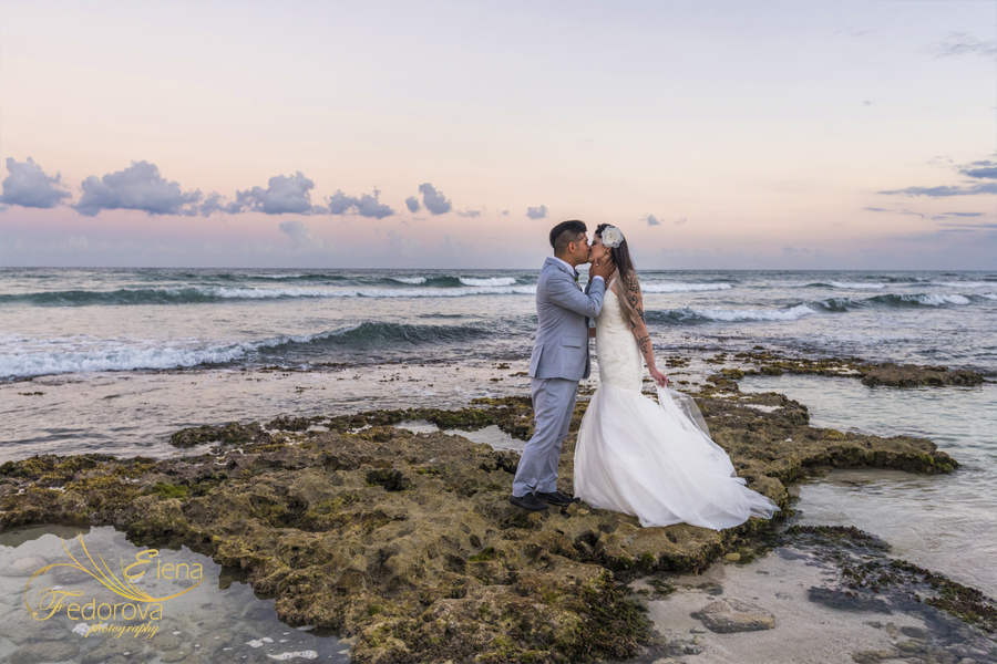 grand bahia principe tulum mexico wedding photo