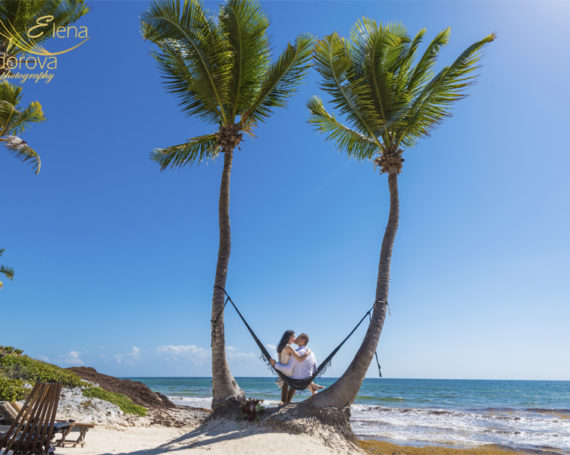 Wedding vow renewal in Habitas Tulum.