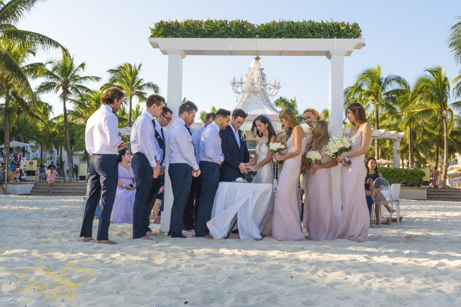 riu palace riviera maya beach wedding