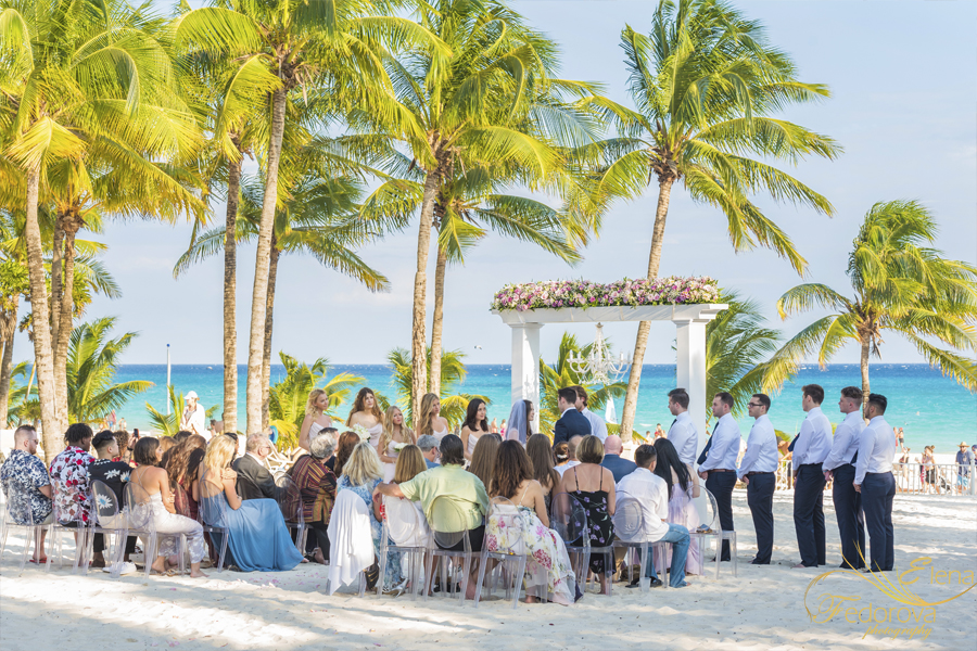 riu palace riviera maya wedding beach