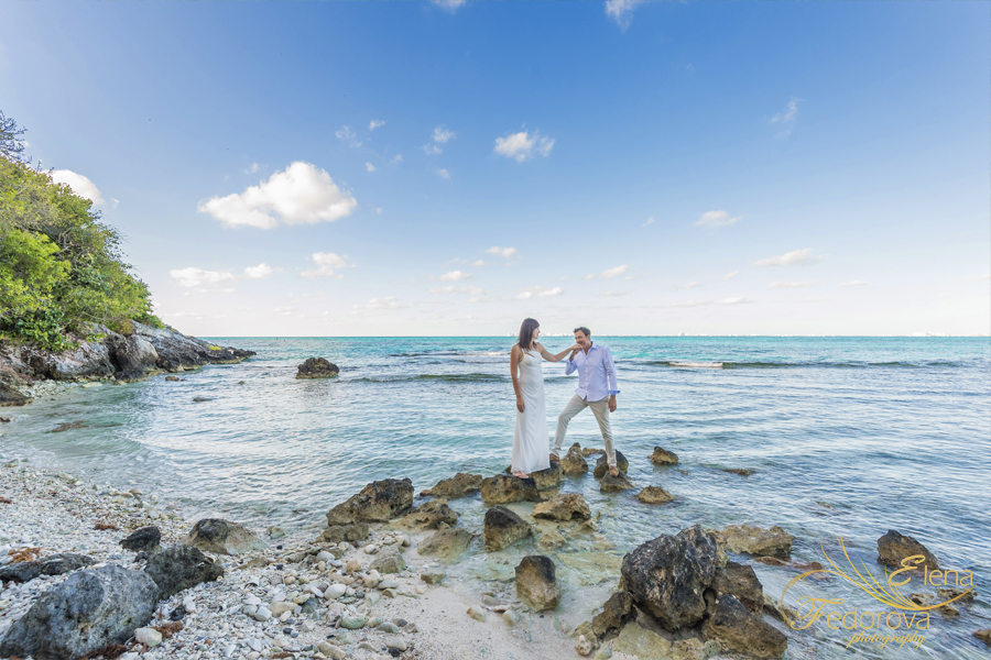 honeymoon isla mujeres photo session