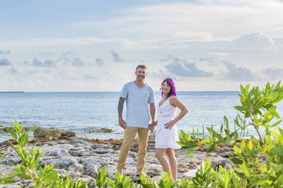 anniversary photo session cozumel