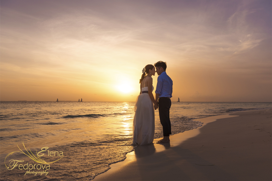 couple photos made during sunset