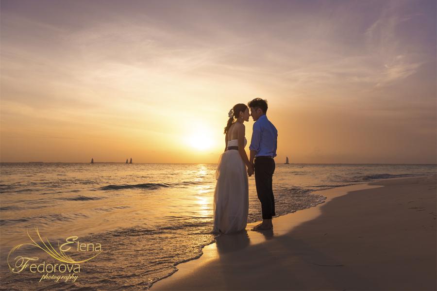 couple photos made during sunset