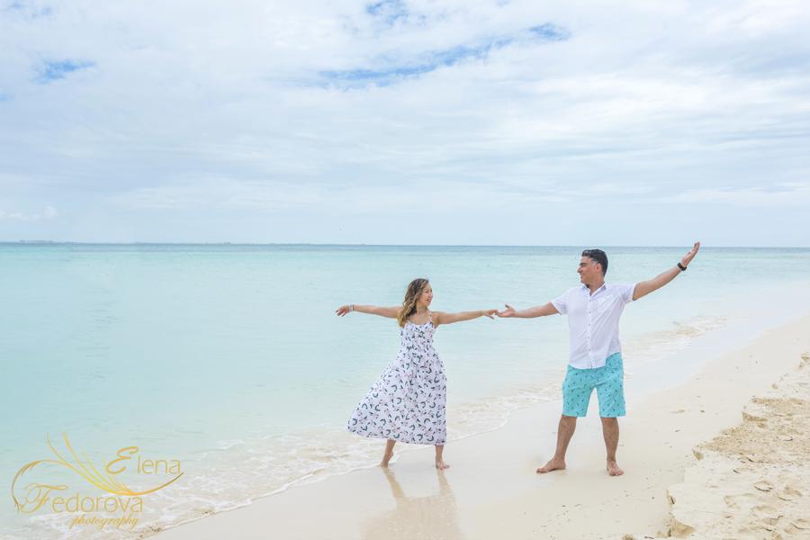 dancing on beach photo shoot