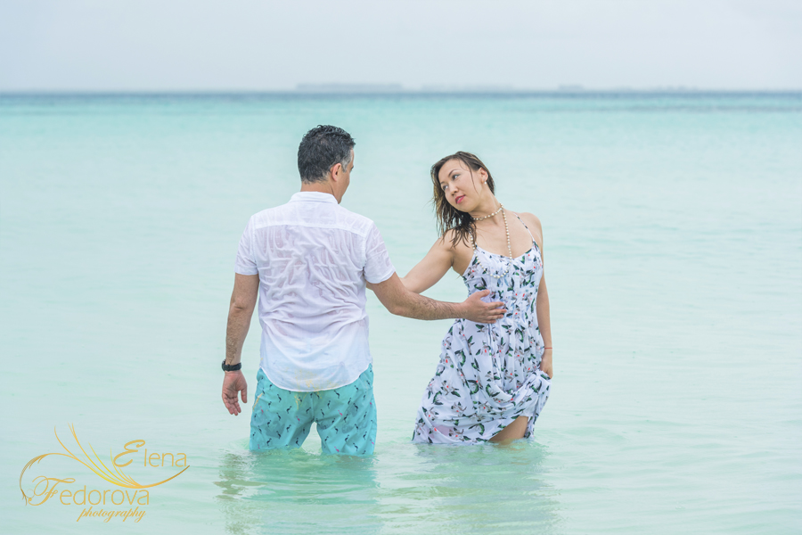 isla mujeres trash the dress